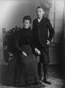 Robert Schuman et sa mère